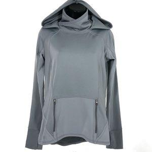 Athleta Plush Tech Hoodie Gray Long Sleeve XS